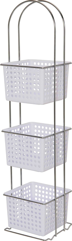 colourmatch by argos chrome 3 drawer storage caddy reviews. Black Bedroom Furniture Sets. Home Design Ideas
