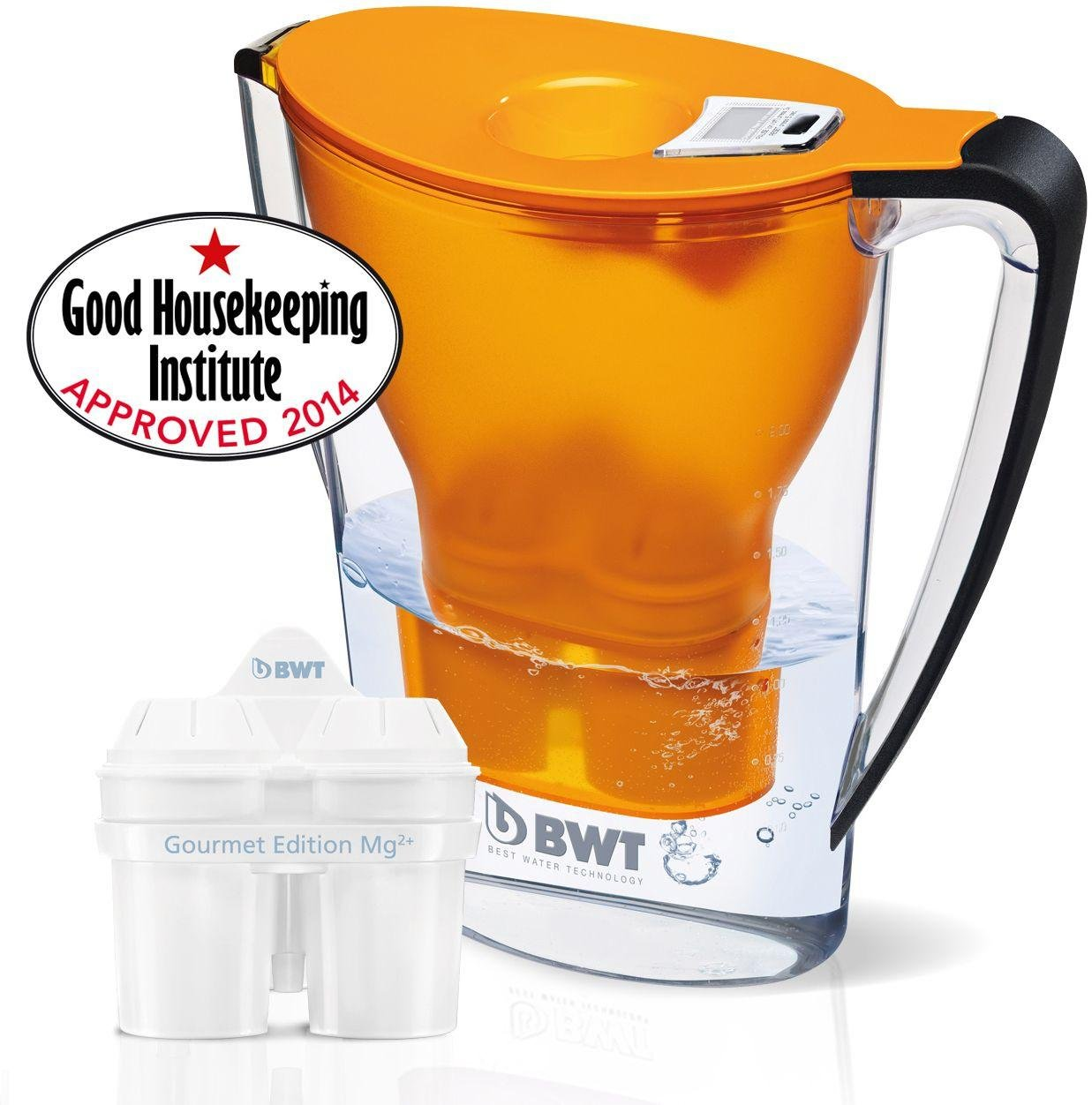 Image of Best Water Technology Filter Jug Plus Cartridge - Orange