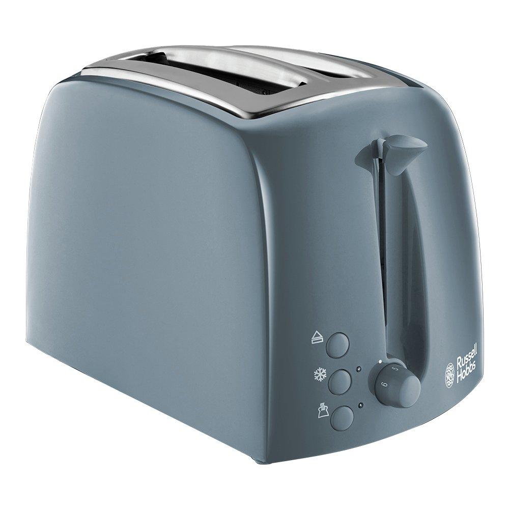 Russell Hobbs Textures 2 Slice Grey Plastic Toaster 21644
