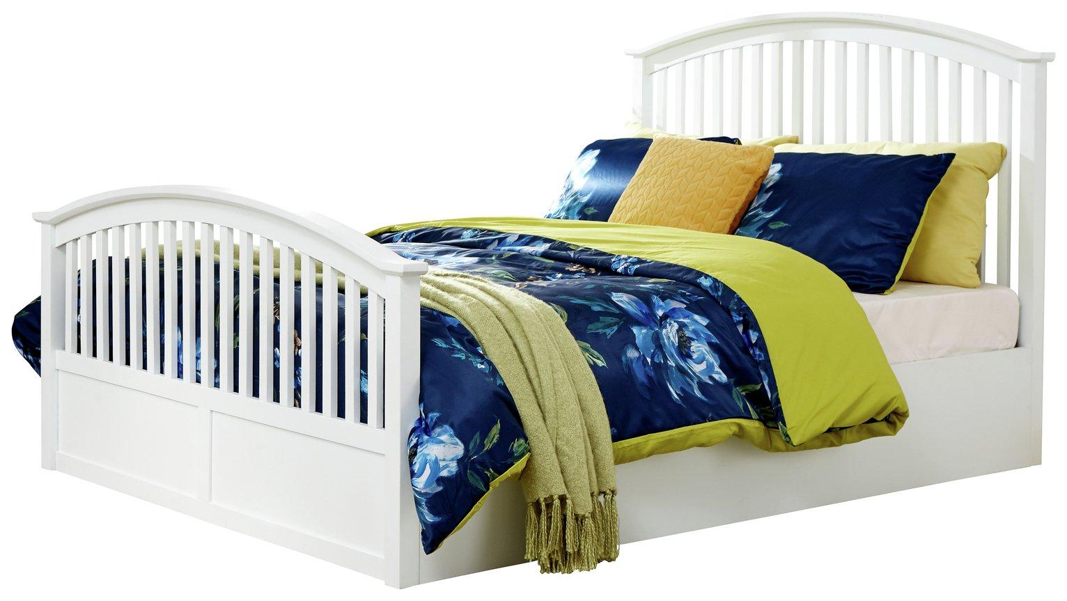 GFW Madrid Side Opening Ottoman Kingsize Bed Frame - White