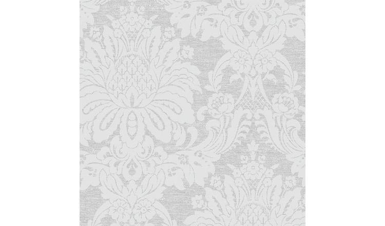 Boutique Vogue Damask Dove Grey Wallpaper