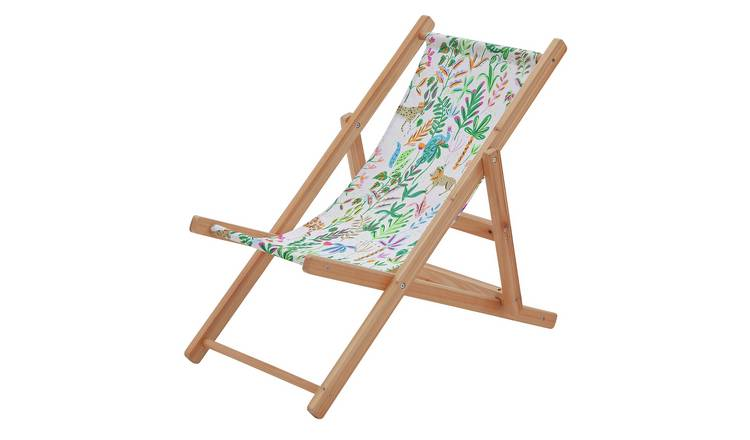 Party Animals Kids Wooden Deck Chair
