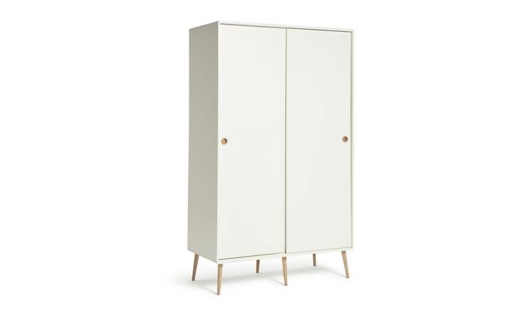 Argos Home Softline 2 Door Sliding Wardrobe - White