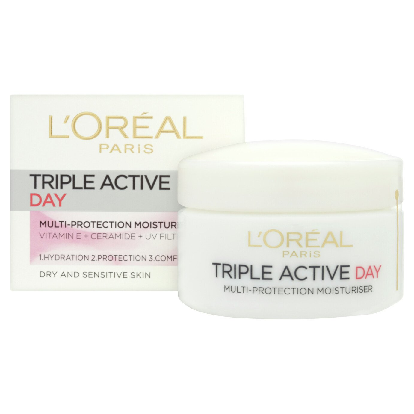 L'Oreal Paris Triple Active Day Sensitive Moisturiser - 50ml
