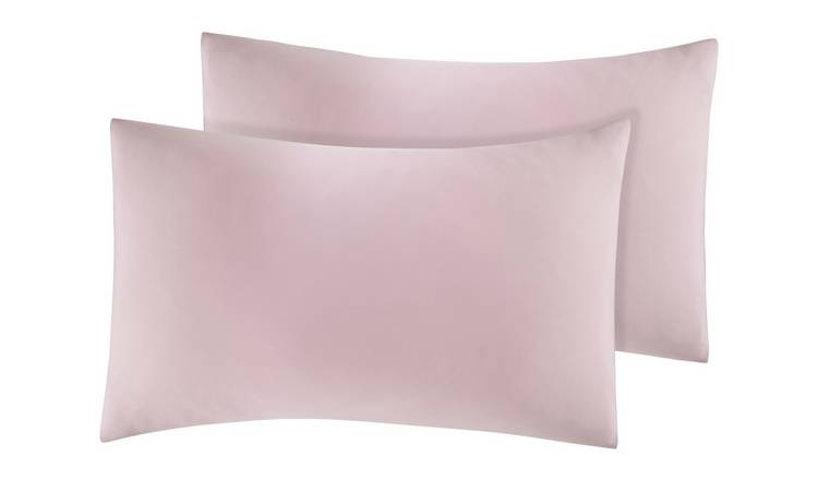 Argos Home Easycare Polycotton Standard Pillowcase Pair