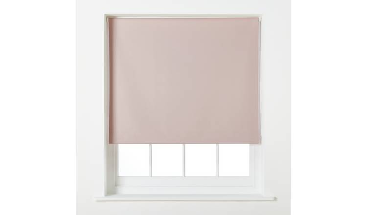 Argos Home Blackout Roller Blind - 6ft - Blush
