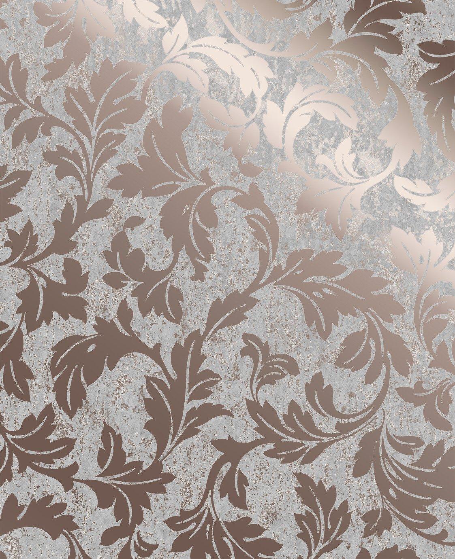 Superfresco Milan Scroll Rose Gold Wallpaper