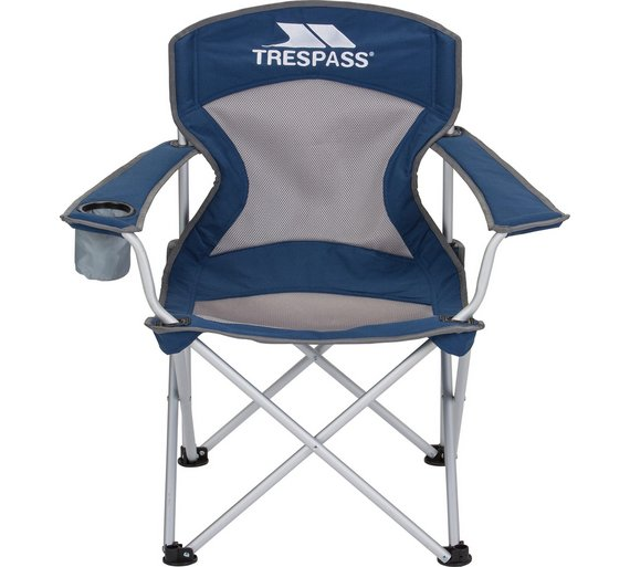 buy trespass aluminium deluxe camping chair camping chairs argos