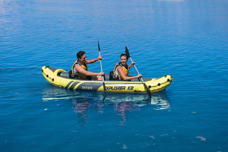 Intex Explorer K2 Kayak - Yellow and Black. lowest price