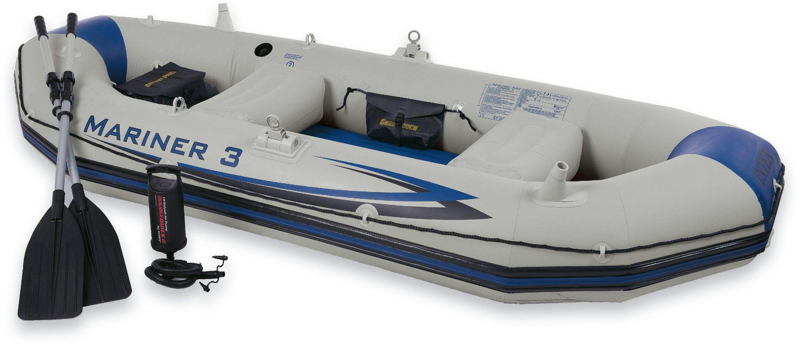 Intex - Mariner 3 Boat Set - Grey and Blue lowest price