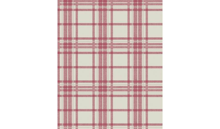 Superfresco Easy Country Tartan Red Wallpaper