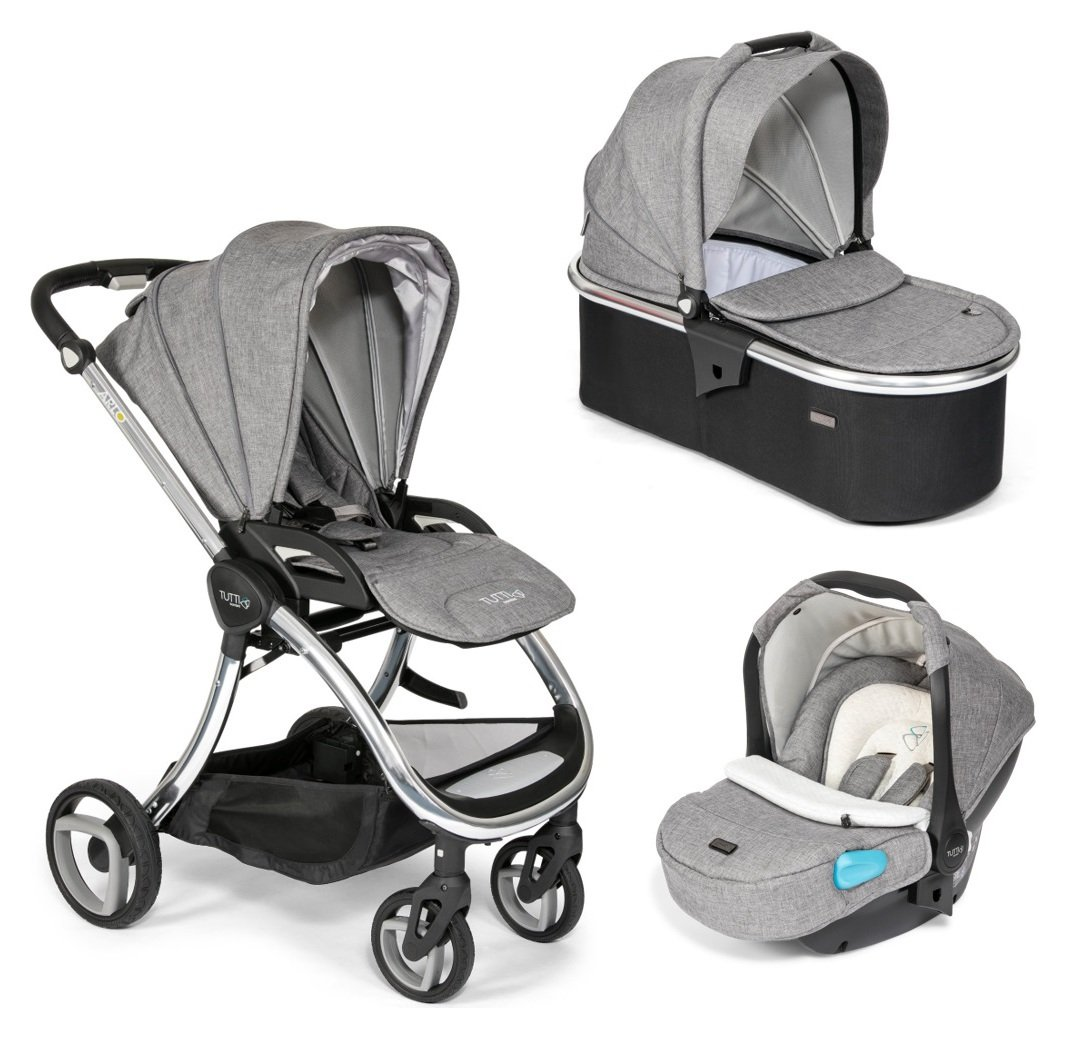 Tutti Bambini Arlo Chrome 3-in-1 Travel System - Charcoal