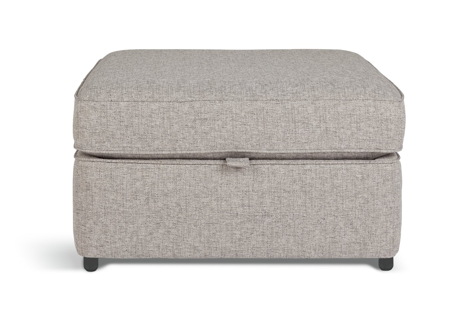 Argos Home Atticus Fabric Storage Footstool - Grey