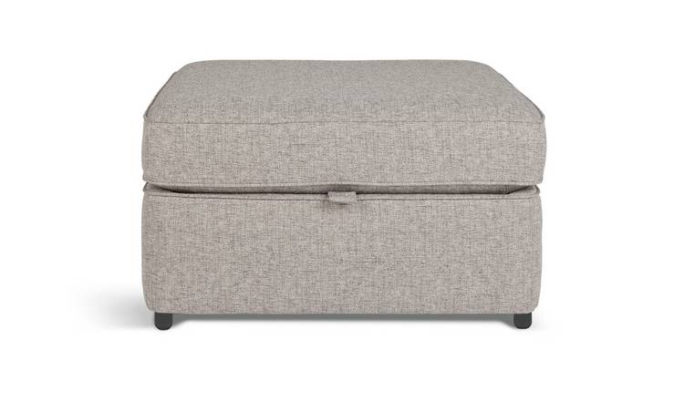 Habitat Atticus Fabric Storage Footstool - Grey