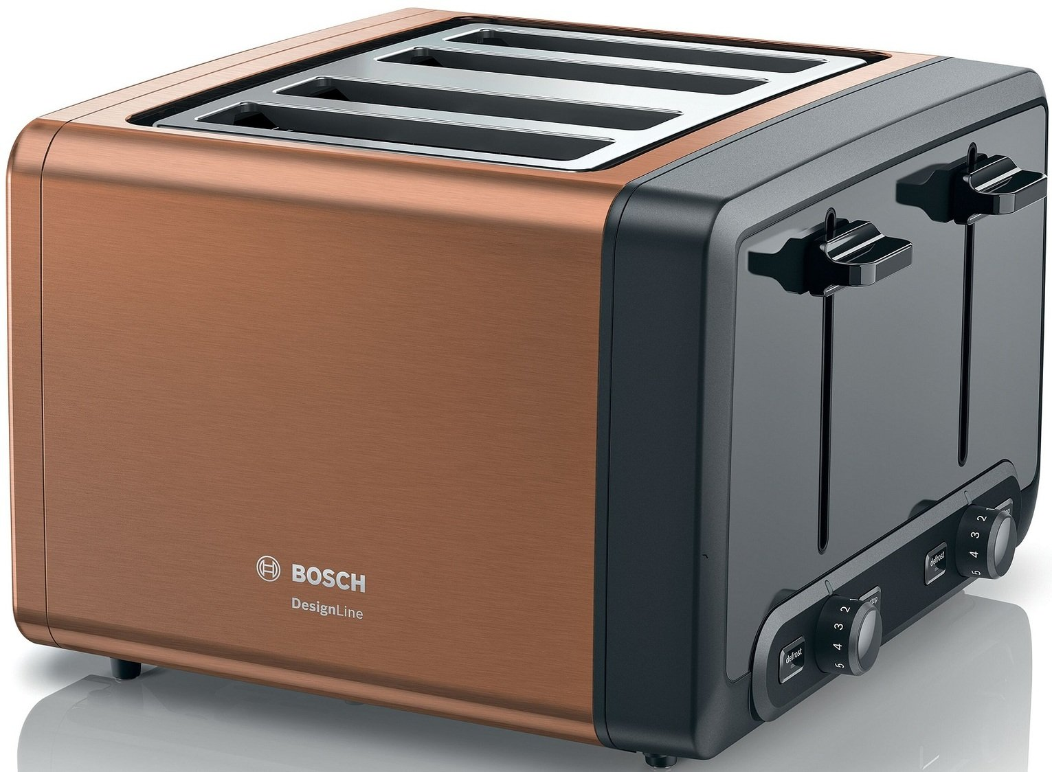 Bosch TAT4P449GB DesignLine 4 Slice Toaster - Copper