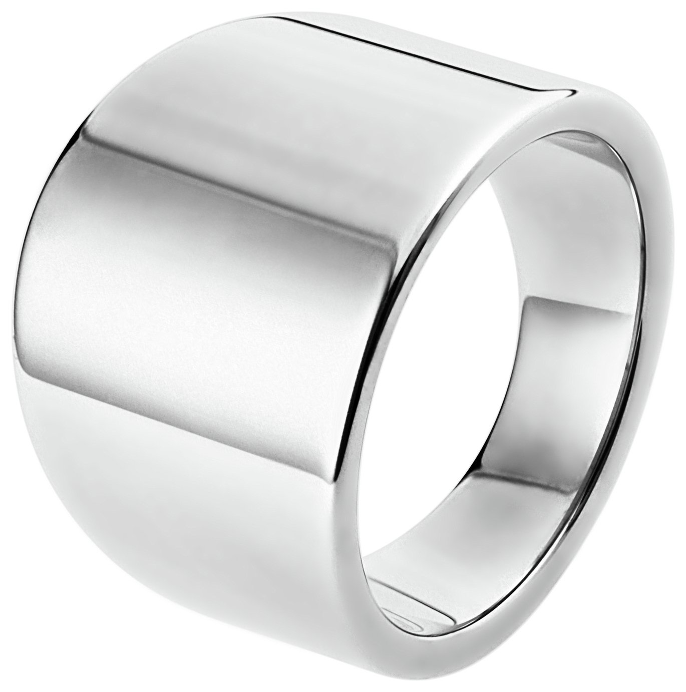 Inara Rhodium Plated Ceramic Graduated Ring