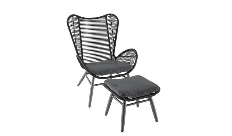 Argos Home Butterfly Garden Chair and Footstool