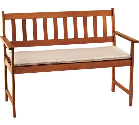 Buy cream cushion for 4ft garden bench at argoscouk for Chair cushion covers argos