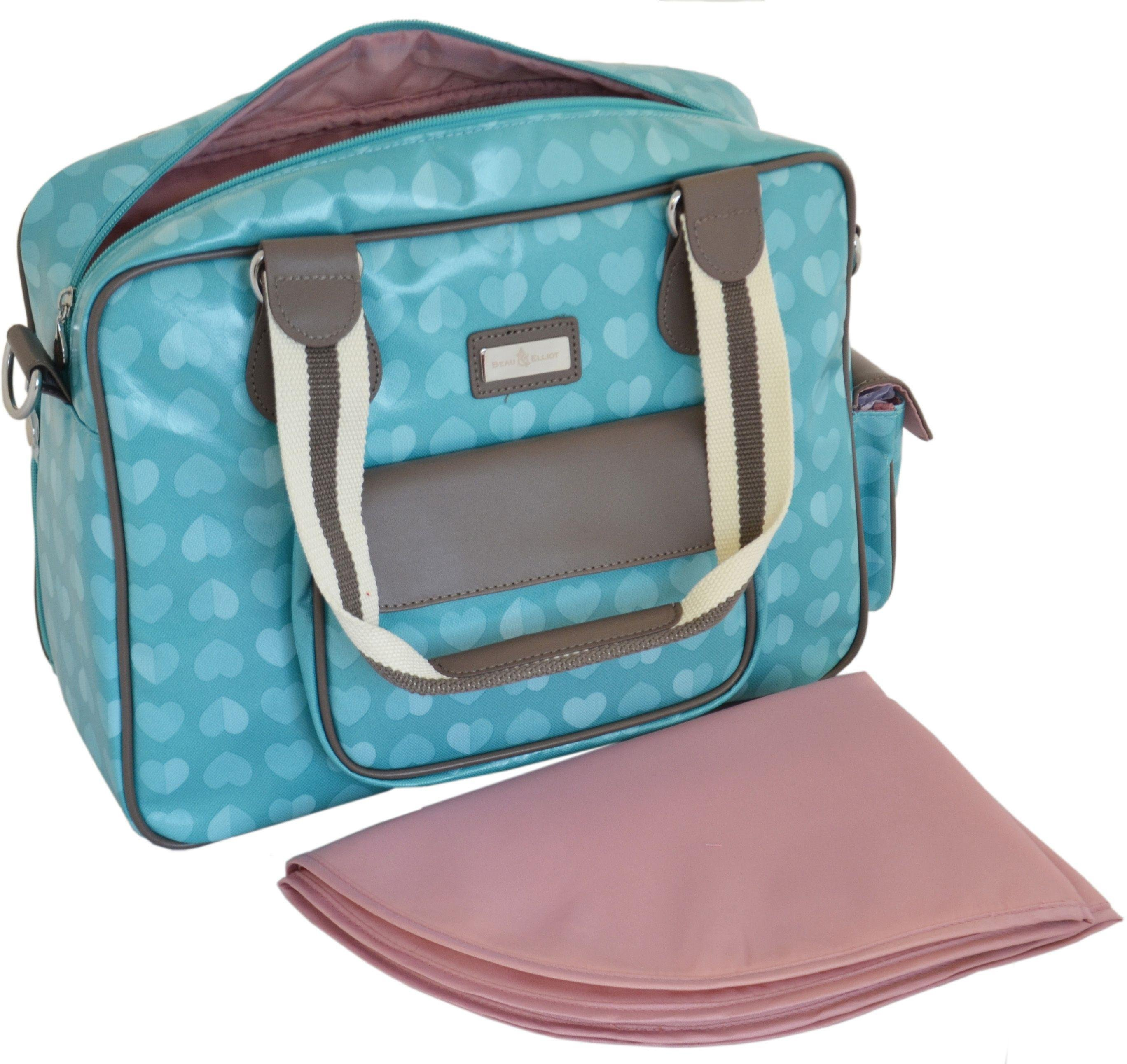 Beau and Elliot Confetti Baby Changing Bag - Aqua.