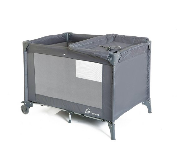 buy baby elegance double layer travel cot at. Black Bedroom Furniture Sets. Home Design Ideas