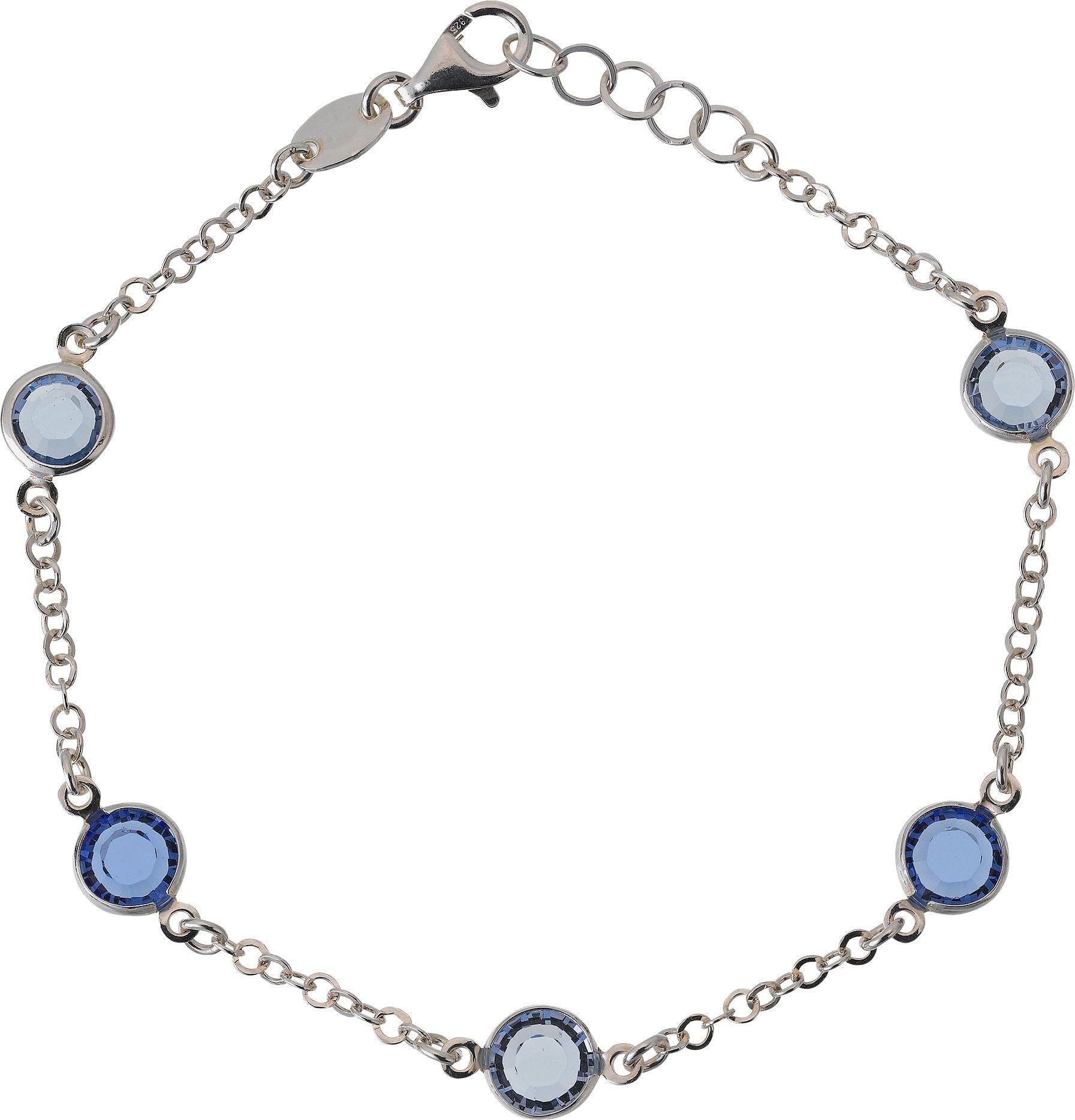 Image of Davvero - Sterling Silver - Blue Crystal Bracelet.