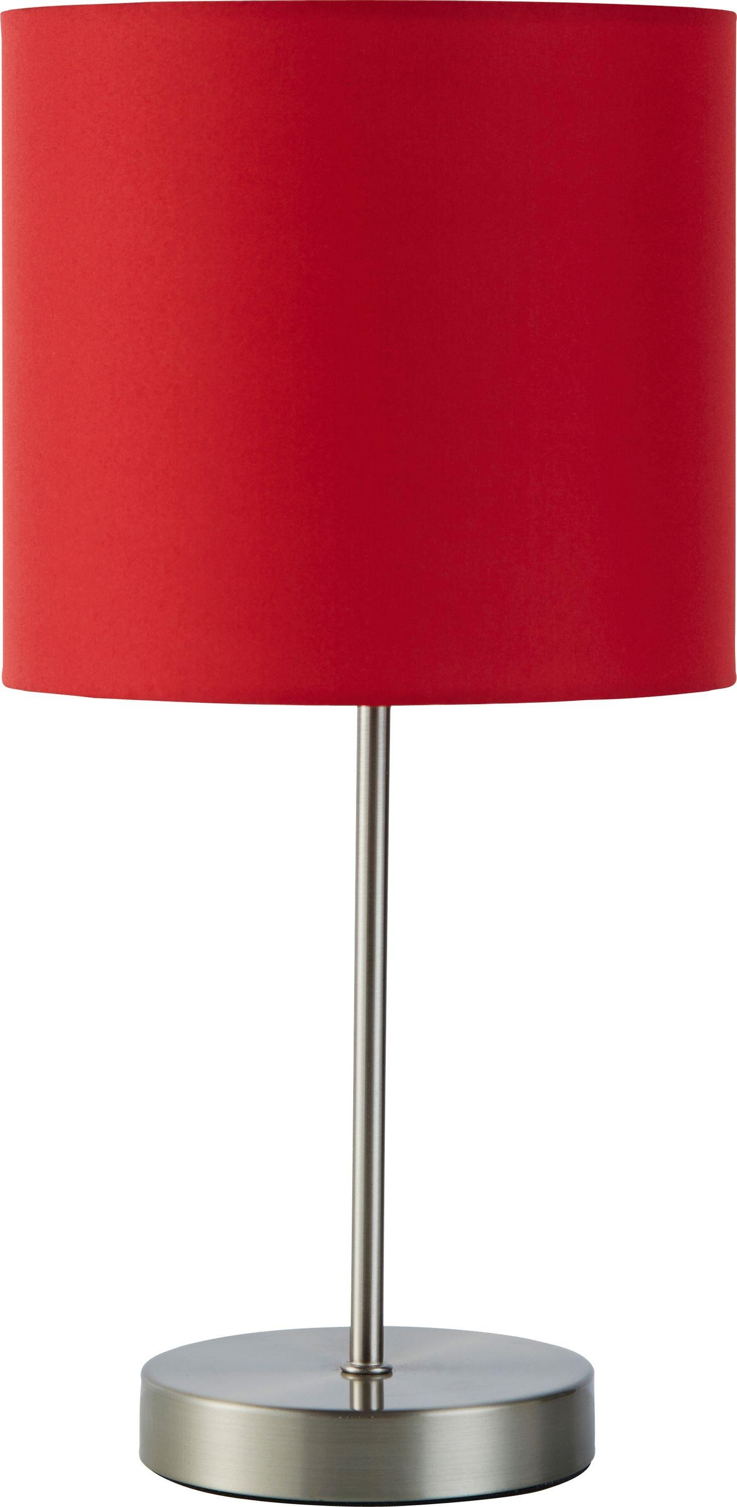 Argos Home Satin Stick Table Lamp - Poppy Red