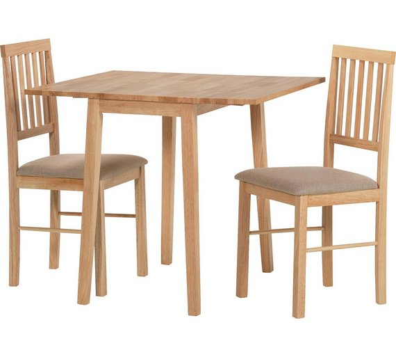 HOME Kendall Extending Solid Wood Table 2 Chairs