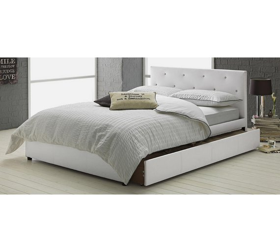 Buy Hygena Imelda Small Double 1 Drawer Bed Frame - White   Bed ...