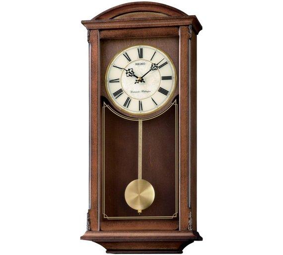 Buy Seiko Alder Dual Chime Pendulum Wall Clock At Argos Co