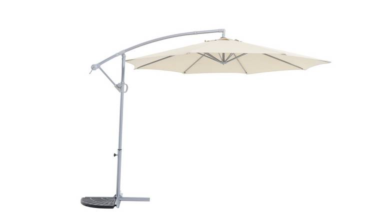 Buy Argos Home Rotating Overhanging Garden Parasol Cream Garden Parasols And Bases Argos