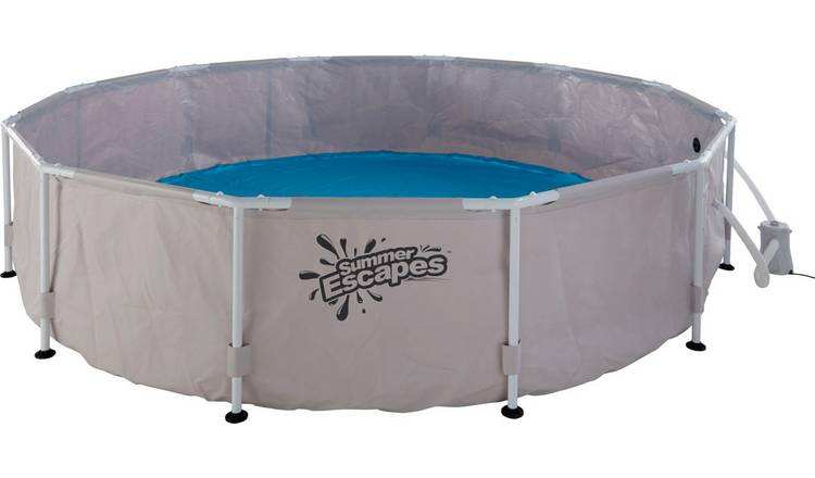 Summer Waves 12ft Round Frame Family Pool - 6056L