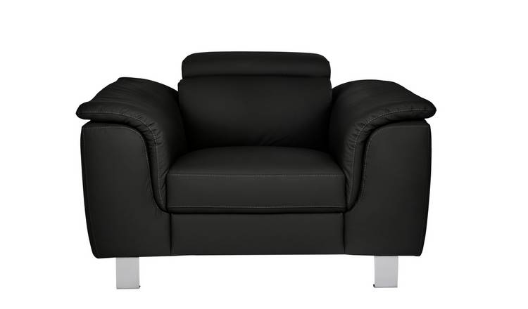 Argos Home Boutique Faux Leather Armchair - Black