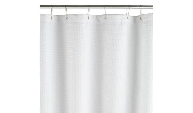 Argos Home Waffle Shower Curtain - White