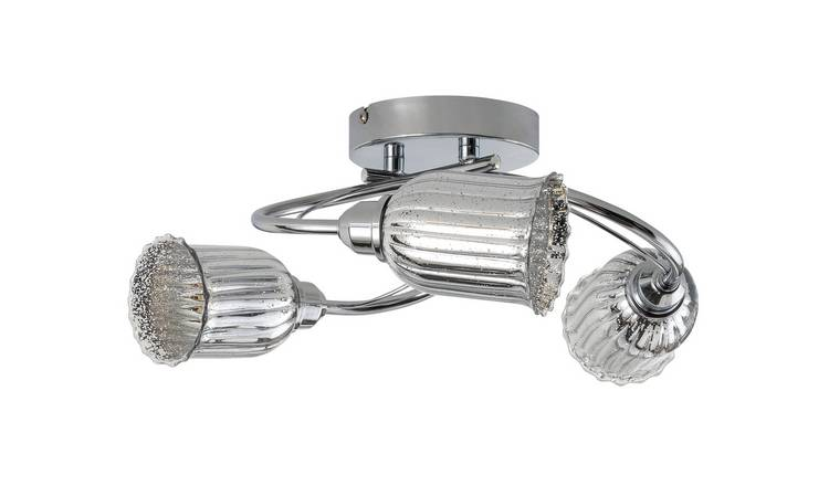 Argos Home Le Marais Mercury 3 Light Ceiling Light - Chrome