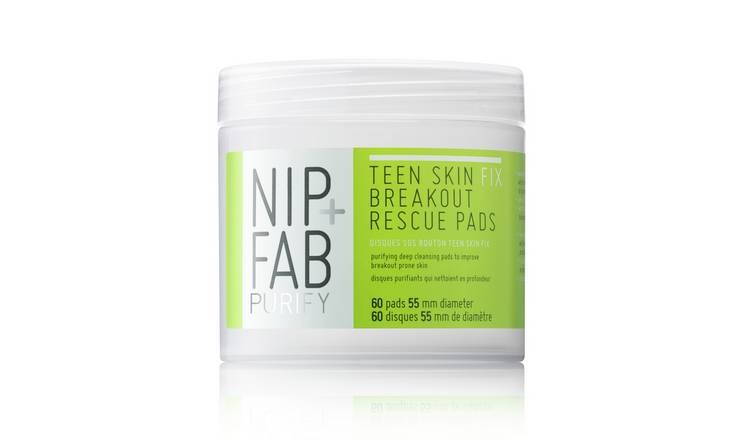 NIP + FAB Teen Skin Fix Breakout Pads - 80ml