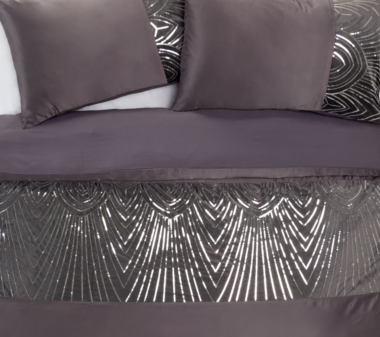 Argos Home Slate Sequin Bedding Set - Double