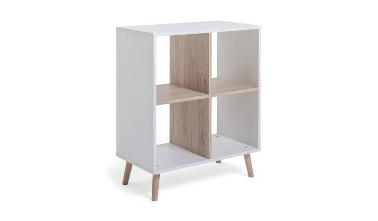 Argos Home Skandi 2 x 2 Storage Unit - White Two Tone