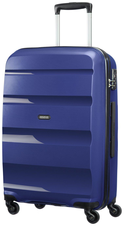 American Tourister Medium 4 Wheel Hard Suitcase - Navy Blue