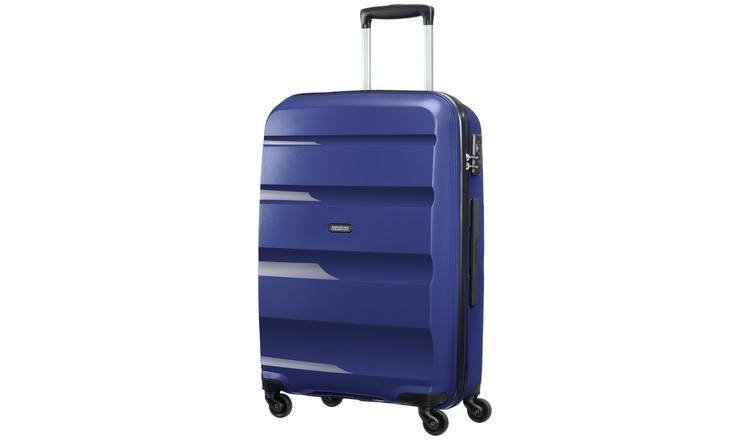 American Tourister Medium 4 Wheel Hard Suitcase - Navy Blue