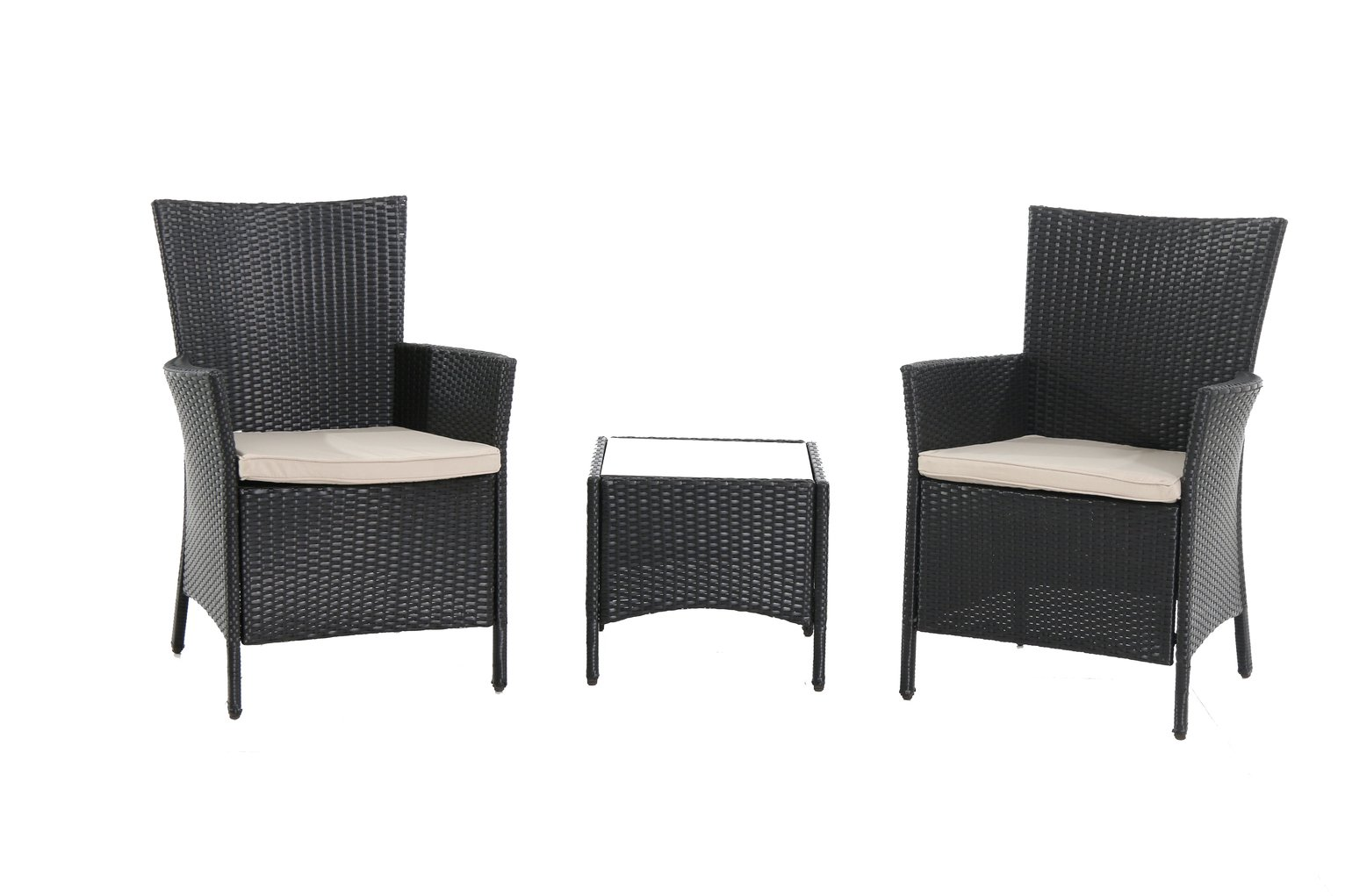 Bali Set of 2 Armchairs with Cushions