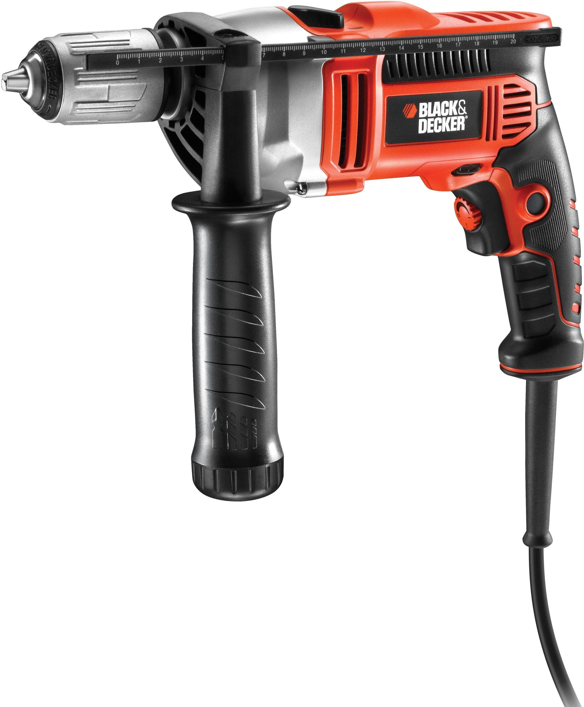 Image of Black and Decker - 800w Hammer Drill and Kitbox