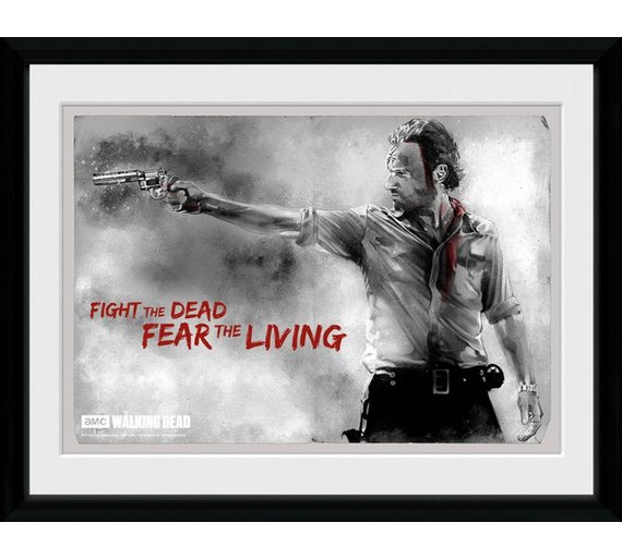 Buy GB Eye The Walking Dead Framed Print   Pictures and wall art   Argos