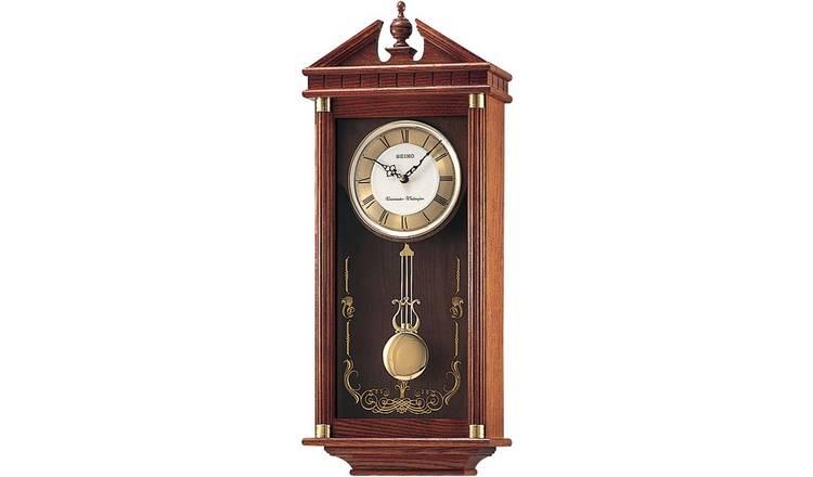 Buy Seiko Oak Dual Chime Pendulum Wall Clock Clocks Argos