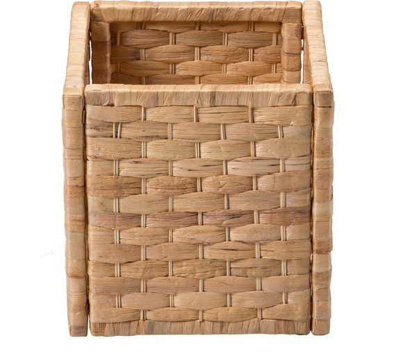 Basket Weaving At Home : Buy home water hyacinth cubed storage basket small weave
