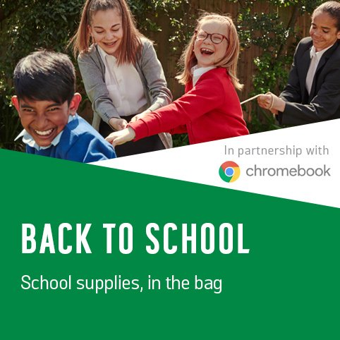 Back to School. School supplies, in the bag.