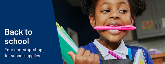 Back to school. Your one-stop-shop for school supplies.