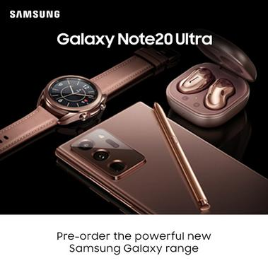 Galaxy Note 20 Ultra. Pre-order the powerful new Samsung Galaxy range.