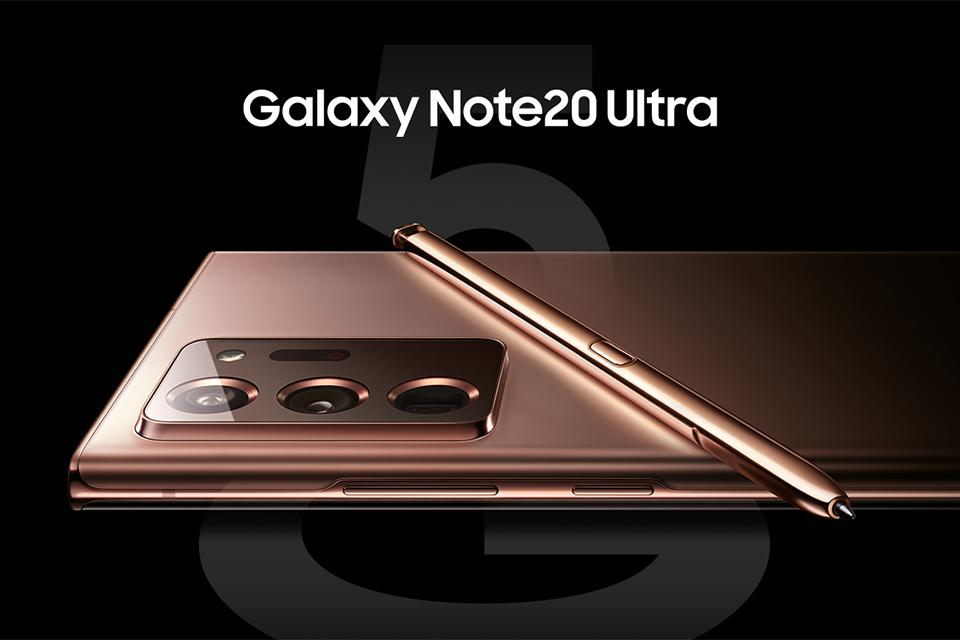 The new Samsung Galaxy Note20 Ultra.
