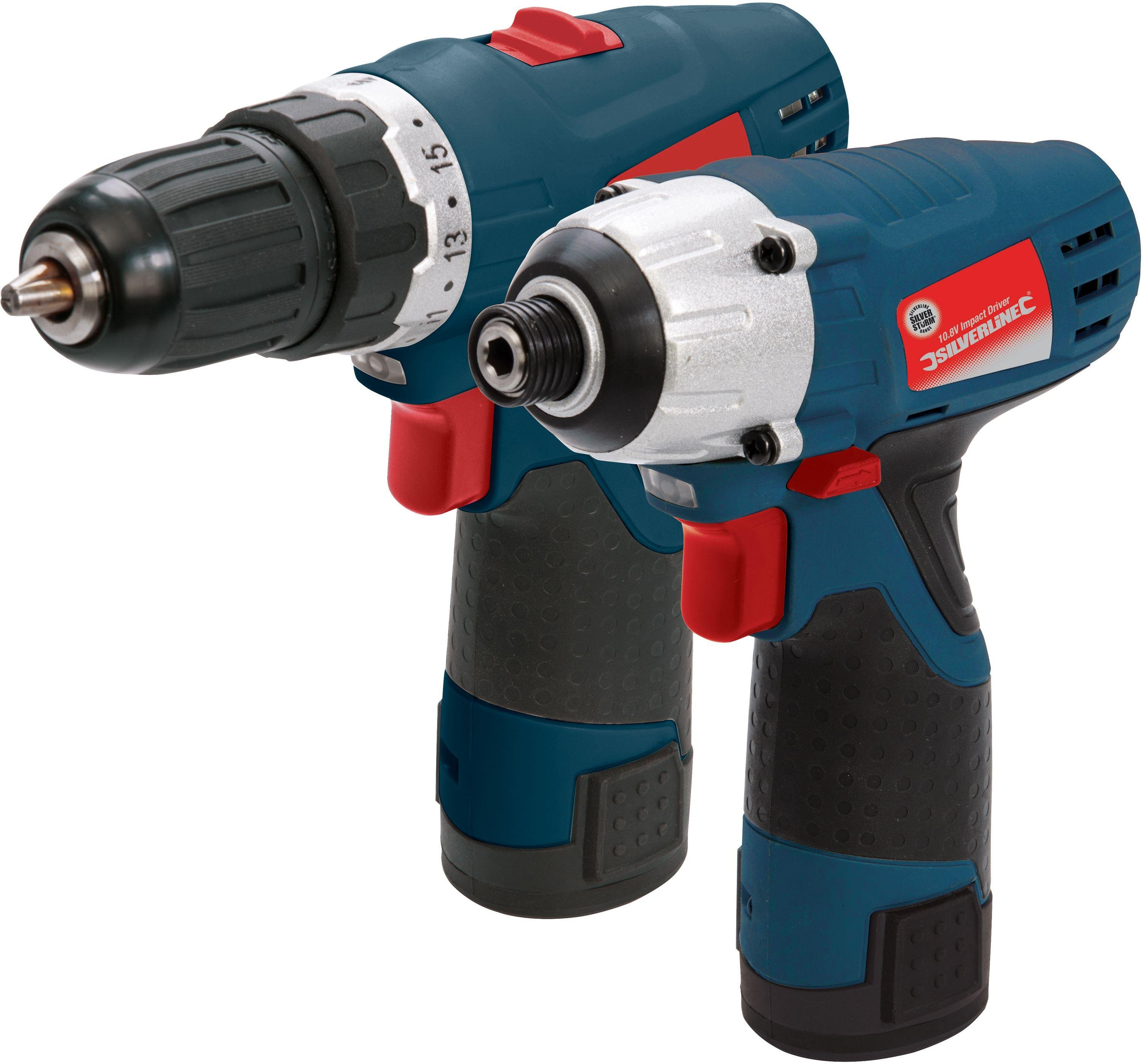 Silverstorm - 108V Drill Driver and Impact Driver Twin Pack lowest price