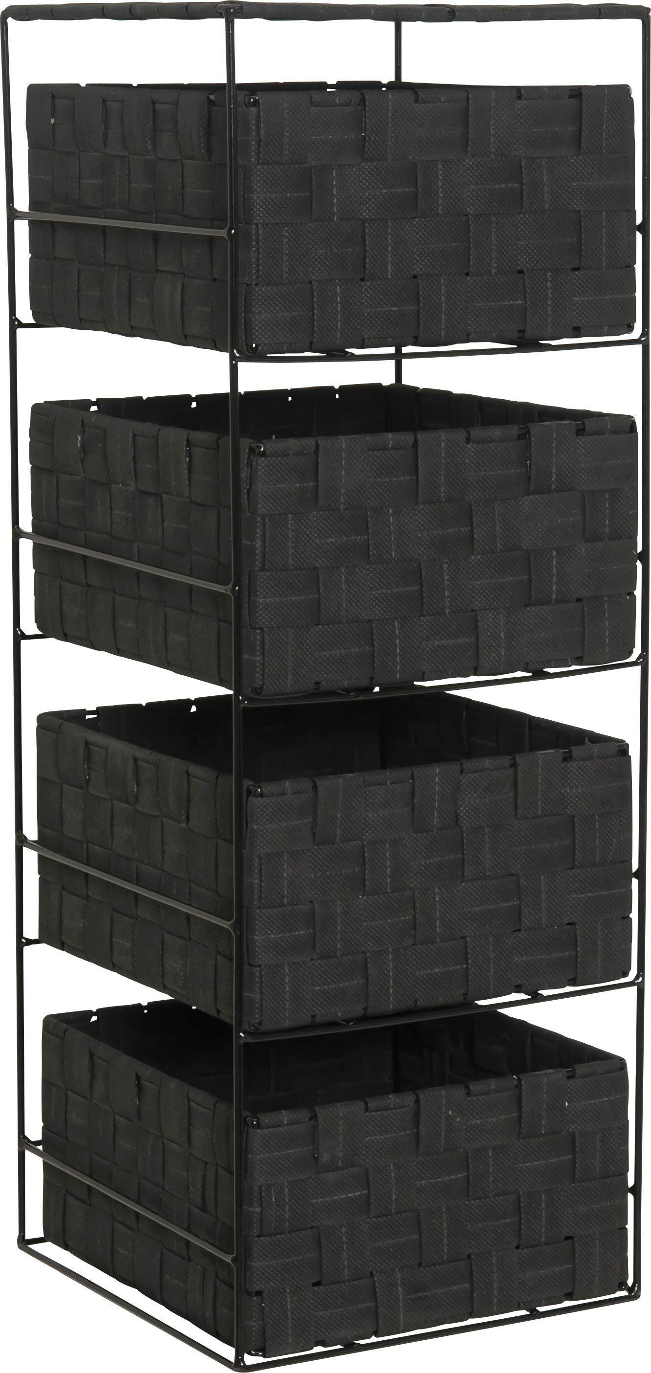 argos home 4 drawer storage unit jet black 3222641. Black Bedroom Furniture Sets. Home Design Ideas